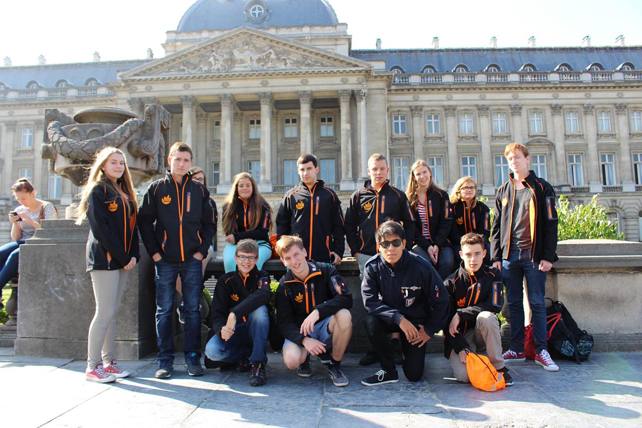 Ein Teil Jugendforum während der Projektwoche 2014 in Brüssel